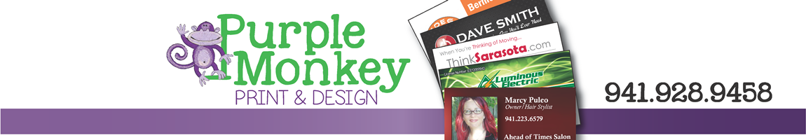 Purple Monkey Print & Design Logo